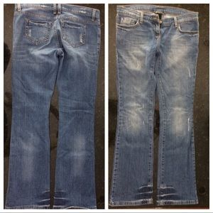 International Concepts P4 bootcut stressed jeans